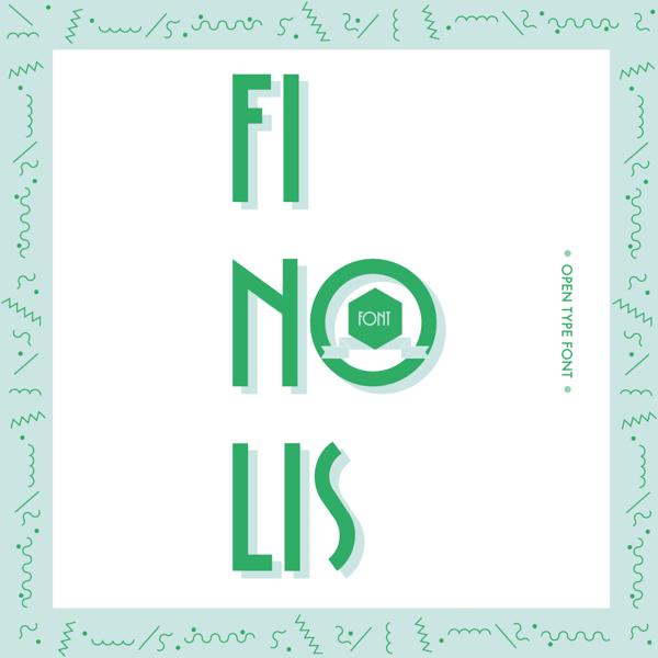 Finolis Font by Alberto Rodríguez in Showcase of Art Deco Typography