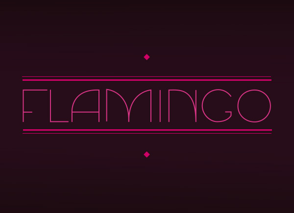 Flamingo by Gina Lodewijks in Showcase of Art Deco Typography
