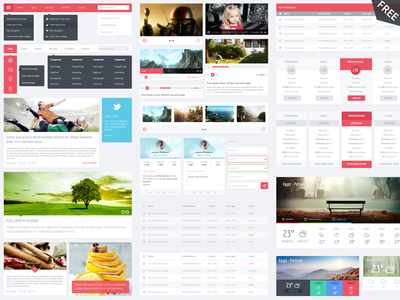 Flatic UserInterface Kit by M-Elgendy in 27 Fresh UI Kits for October 2013