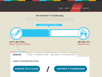 Fundraise Pitch by Dean Callaway in 40 Progress Bar Designs for Inspiration