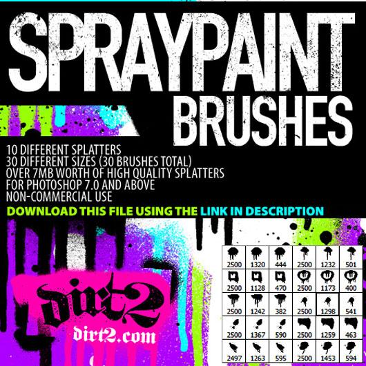 HiRes  PS7 Splatter Brushes