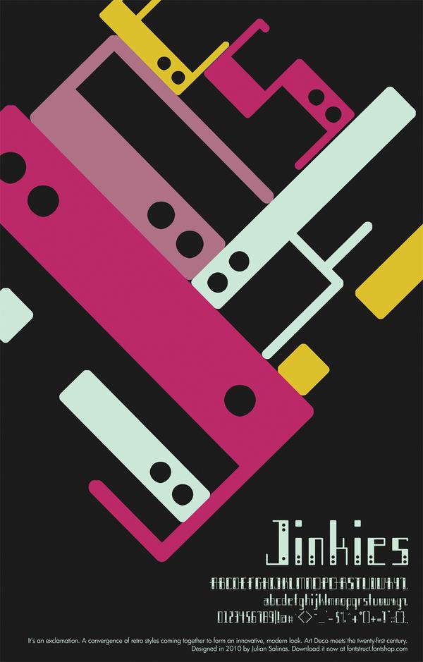 Jinkies by Julian Nicole Salinas in Showcase of Art Deco Typography