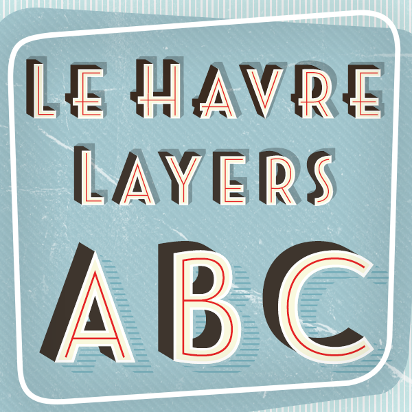 Le Havre by Jeremy Dooley in Showcase of Art Deco Typography