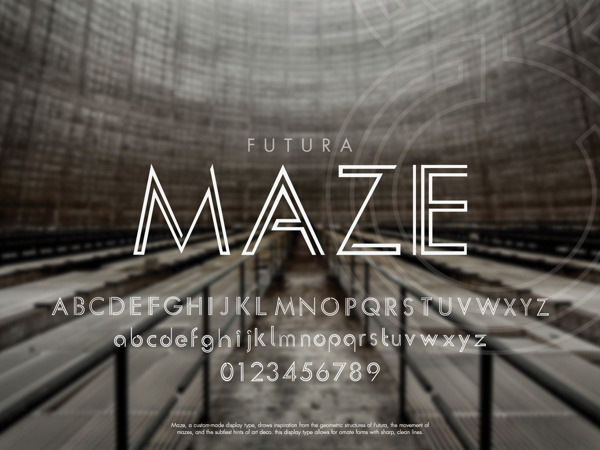 Maze: An Addition to Futura by Peter de Guzman in Showcase of Art Deco Typography