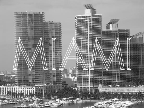 Miami & Typography by Alex Davies in Showcase of Art Deco Typography