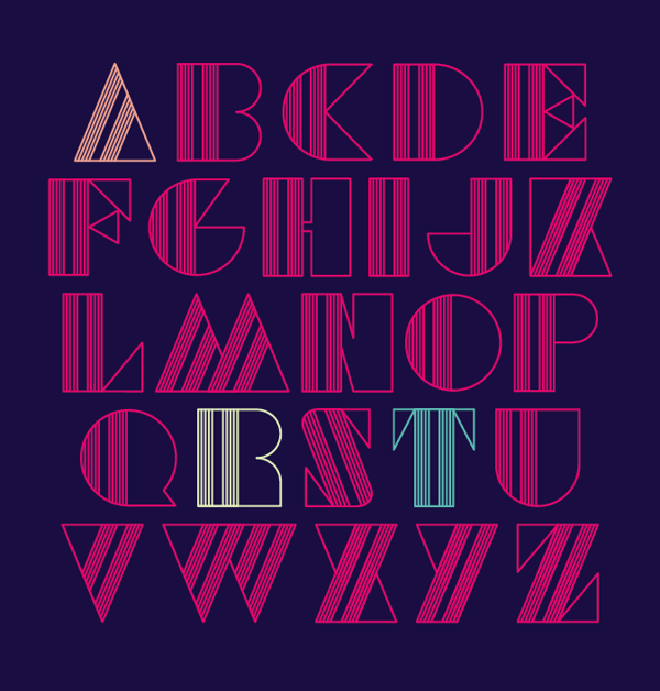 New Art Deco by Patrick Seymour in Showcase of Art Deco Typography