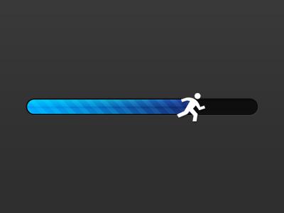 Progress Bar Runner by Egor Fedorov in 40 Progress Bar Designs for Inspiration