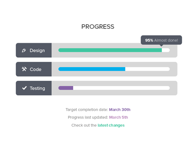 Progress Bars by Zarin Ficklin in 40 Progress Bar Designs for Inspiration
