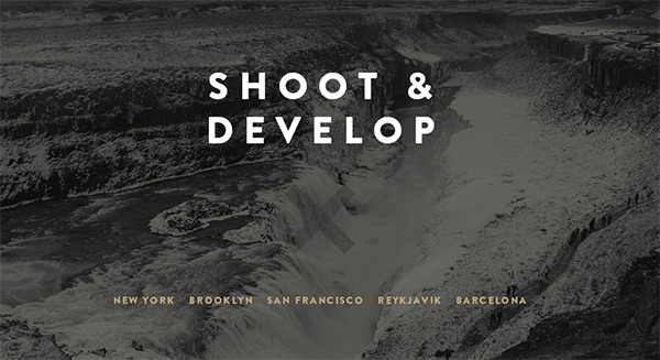 Shoot & Develop in Collection of 50 Modern Websites in Dark Style