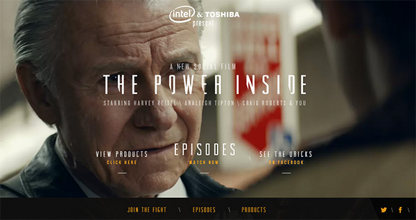 The Power Inside in Collection of 50 Modern Websites in Dark Style
