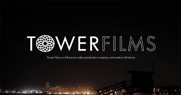 Tower Films in Collection of 50 Modern Websites in Dark Style