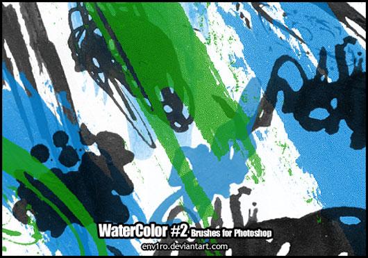 WaterColor .2. Brushes Pack