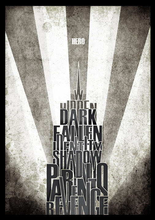 Wayne Towers meets The Dark Knight by Dennis Lucido Cutamora in Showcase of Art Deco Typography