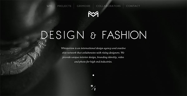 Whisperism in Collection of 50 Modern Websites in Dark Style