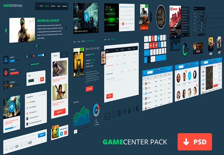 Gamecenter Pack Interface
