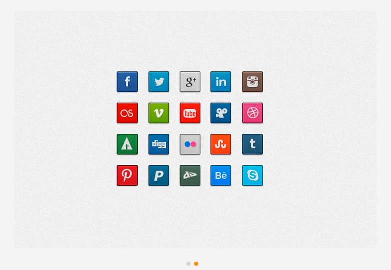 Clean and Simple Social Icons