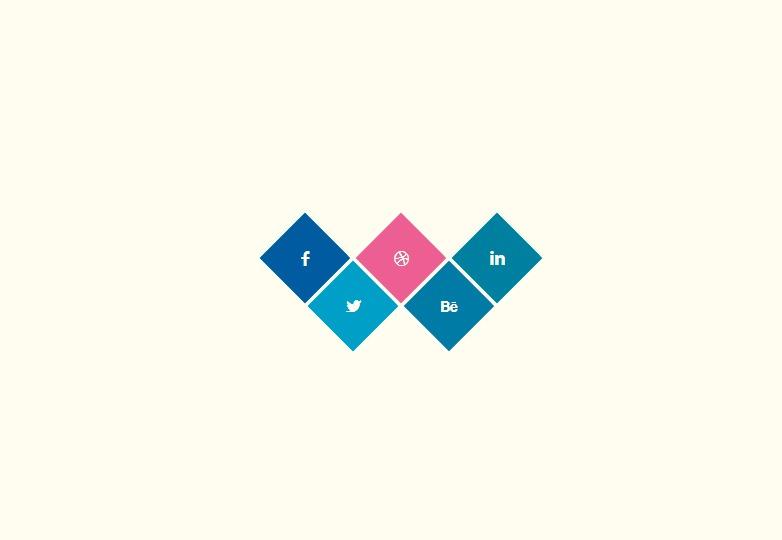 Social Rhombus Icons