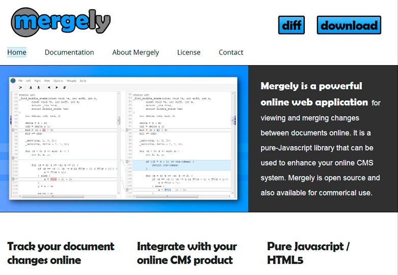 Mergely Tracking Tool