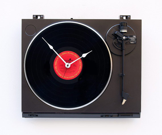 recycled clock turntable