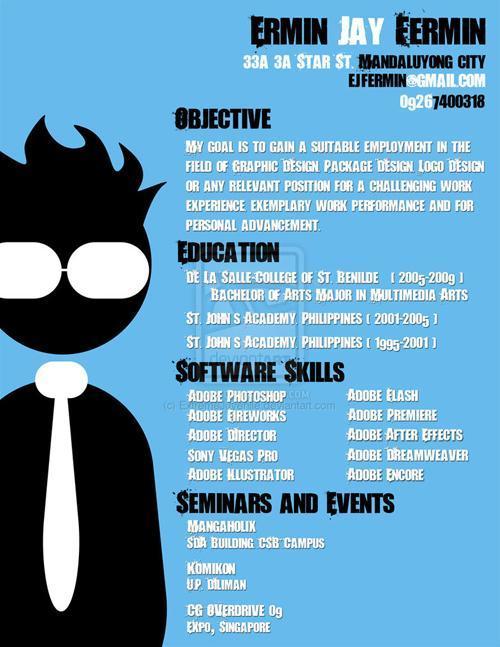 求职的同学们来看看!25个独特的创意简历