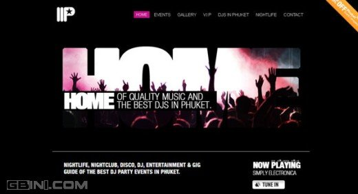 20个与音乐有关的网页设计欣赏