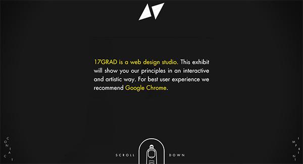 17GRAD in 50 Dark Web Designs for Inspiration