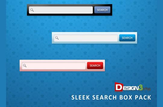 15款精美搜索框PSD免费下载