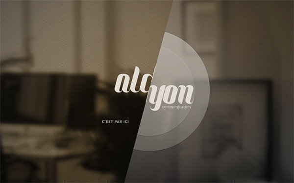 Alcyon Communication in 50 Dark Web Designs for Inspiration