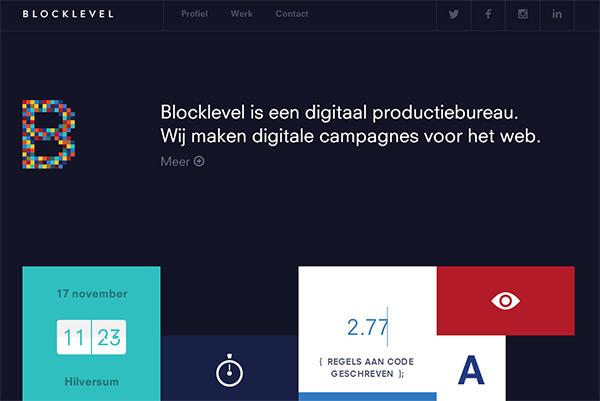 Blocklevel in 50 Dark Web Designs for Inspiration