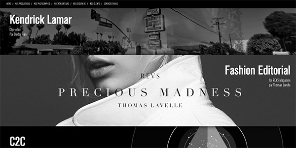 Coeurs & Arts in 50 Dark Web Designs for Inspiration