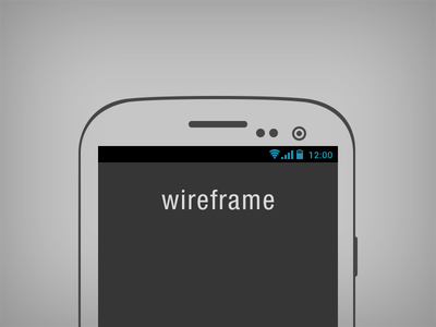 Galaxy S3 Wireframe by Bilal in 50 Free Wireframe Kits and Web Apps
