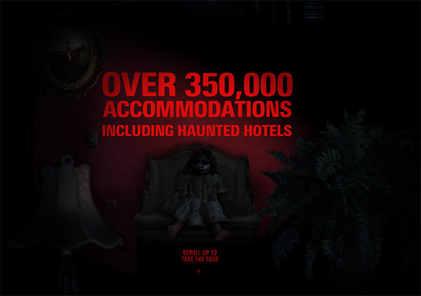 Haunted Hotels in 50 Dark Web Designs for Inspiration