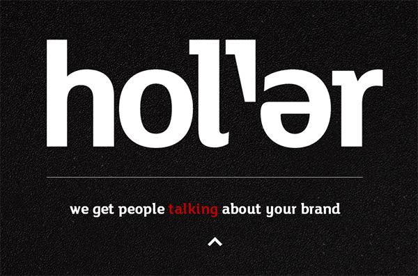 Holler in 50 Dark Web Designs for Inspiration