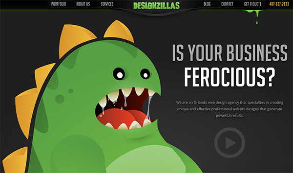Orlando Web Design in 50 Dark Web Designs for Inspiration