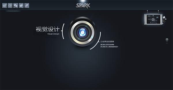 Spark in 50 Dark Web Designs for Inspiration