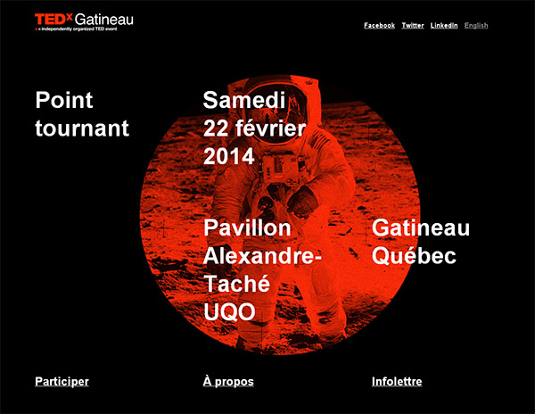 TEDx Gatineau in 50 Dark Web Designs for Inspiration