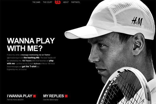 Tomas Berdych in 50 Dark Web Designs for Inspiration