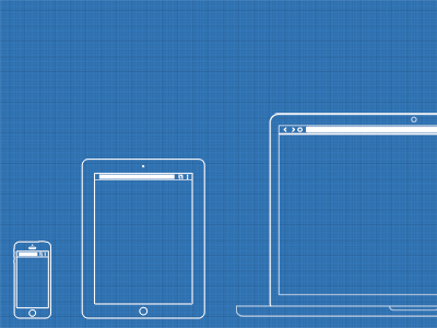 Web / UX Design Wireframe Template PSD by Irfan Mir in 50 Free Wireframe Kits and Web Apps
