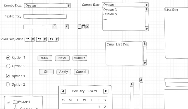 Wireframe Sketch in 50 Free Wireframe Kits and Web Apps