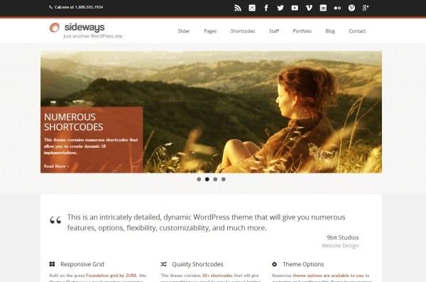 超赞!给设计师的30款新颖漂亮的WordPress主题模板