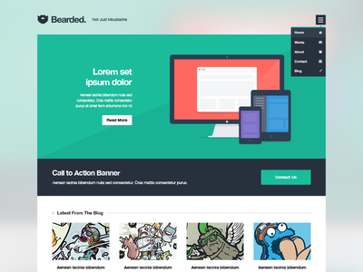 42 Fresh Dribbble Freebies for Web Designers