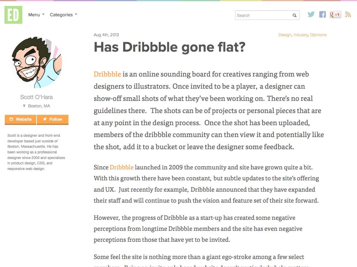 dribbble gone flat