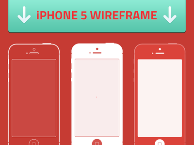 iPhone 5 Wireframes by George Treviranus in 50 Free Wireframe Kits and Web Apps