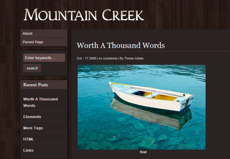 Mountain Creek theme