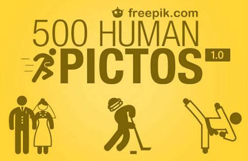 一共500种俏皮的人物形象PSD素材