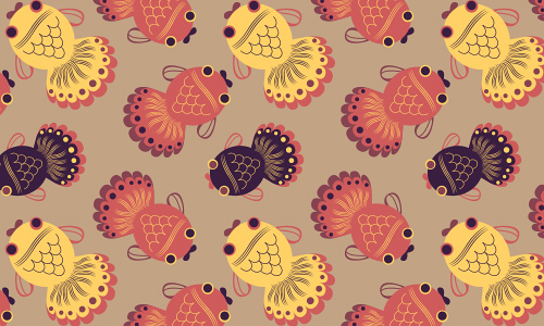 Adorable free fish patterns