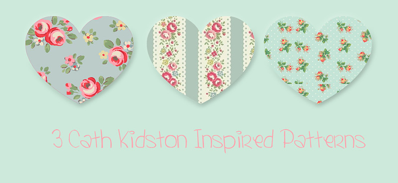 3 Cath Kidston Inspired Patterns by Essierose in 30+ New Photoshop Pattern Sets