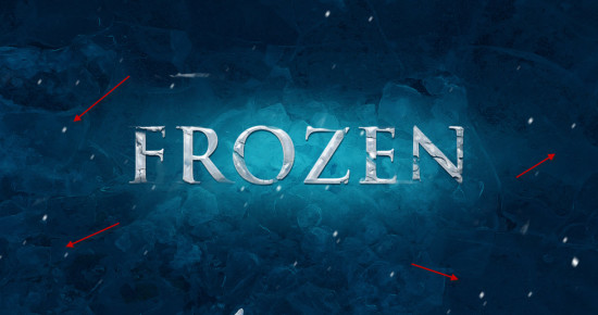 4 falling snow 550x290 Create Realistic Frozen Text Effect in Photoshop