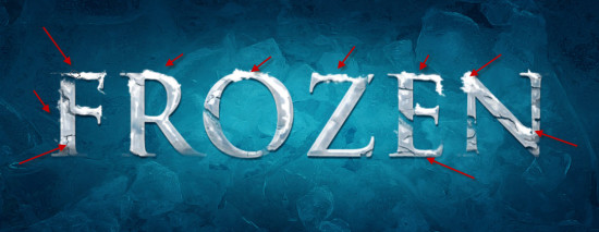 4 paint 550x213 Create Realistic Frozen Text Effect in Photoshop