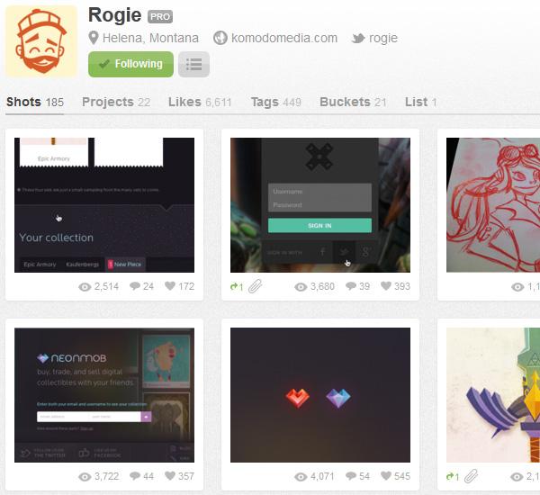 网页设计师该怎么用dribbble?
